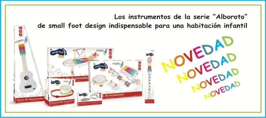 Instrumentos musicales serie Alboroto
